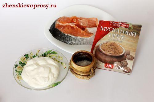 ингредиенты для приготовления семги в духовке