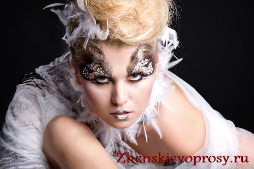 Яркий фантазийный макияж