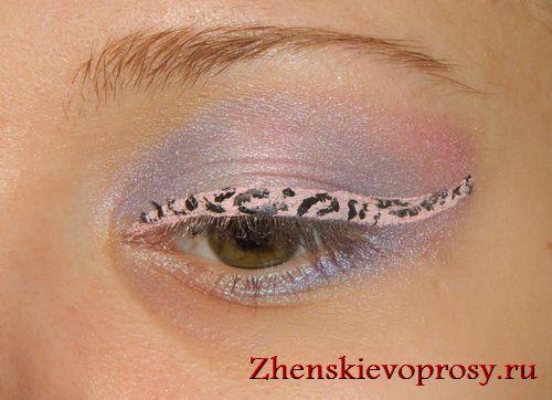 гепардовый макияж