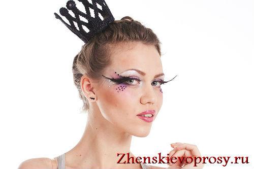 Стильный фантазийный макияж