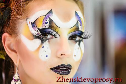 Абстрактный макияж в стиле фентези