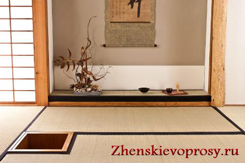 ниши - обязательный атрибут комнаты в японском стиле