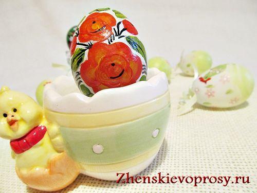 роспись пасхального яйца