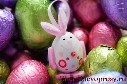 """Декор пасхального яйца """"Кролик"""""""