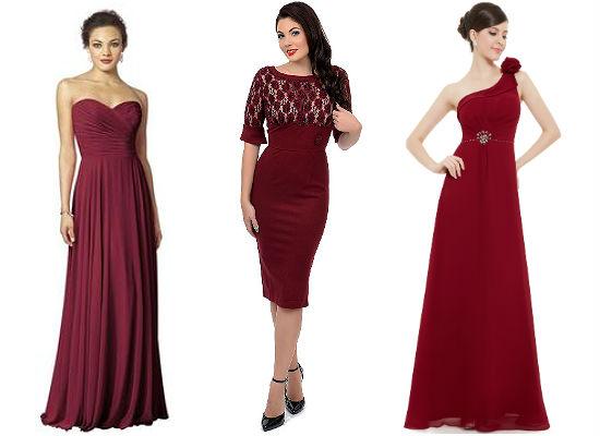 платья цвета марсала фото