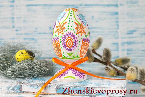 декупаж яйца к Пасхе фото