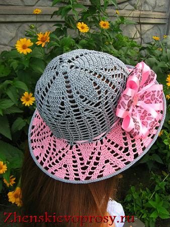 шляпка связанная крючком